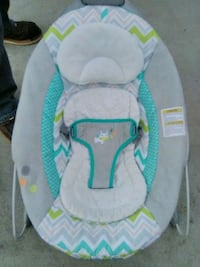 baby's white and green bouncer Denver, 80223