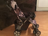 baby's black and gray stroller Defiance, 43512