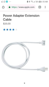 Apple power wall extension cable