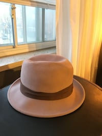 BAILEY PALE PINK WITH BROWN RIBBON FELT HAT - moving sale Toronto, M4P 1V8