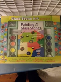Glass stone art box