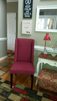 Pair of 2 RED Modern style Wing Back/Parsons Accent Chairs New condition purchased from Wayfair Garner