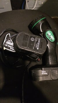 Hitachi work light charger and two batteries