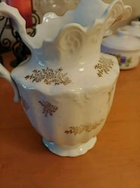 white and blue floral ceramic pitcher Jacksonville, 32257