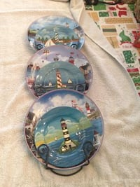 Light House Decorative Plates with Holder