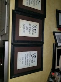 4- 8x10 framed pictures