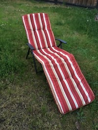 Outdoor chaise patio chair with cushion Port Coquitlam