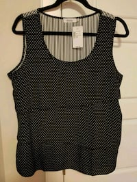 black and white polka-dot tank top Calgary, T3N 0E4