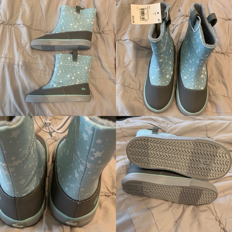 NWT toddler girls size 11 rain boots