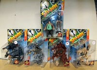 five Spawn character action figures blister packs