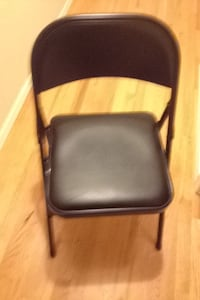 black leather padded chair with gray metal frame Fort Smith, 72908