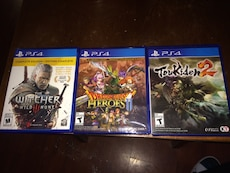 three PS4 games