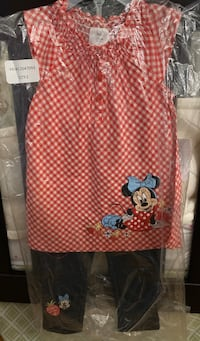 Minnie Mouse Outfit (2 piece; Sz 18-24 months)