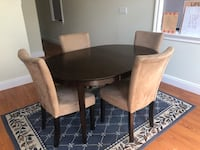 Oval/Circle Dining Table w 4 Highbacked Chairs Jersey City, 07307