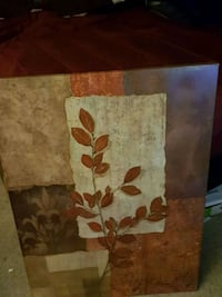 brown and white floral painting Laurel, 20707
