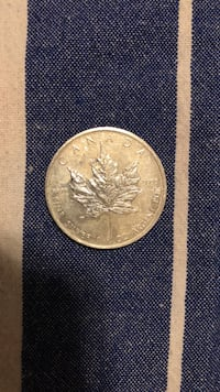99.999% Canadian maple leaf silver coin.  Vancouver