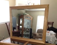 Brown wooden framed wall mirror Norco, 92860