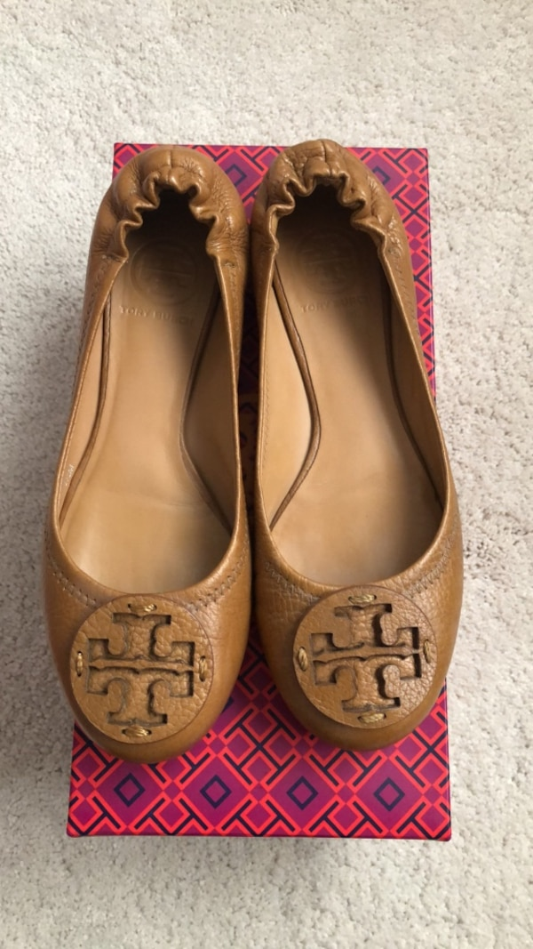 834ad2aab7f Used Tory Burch Reva Flats Royal Tan Size 6.5 for sale in Hercules ...