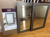"""Two wall mirrors in mosaic silver frame, 24""""wide x 35""""long Herndon, 20170"""