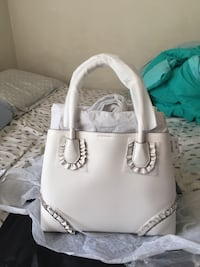 White michael kors leather tote bag Falls Church, 22044