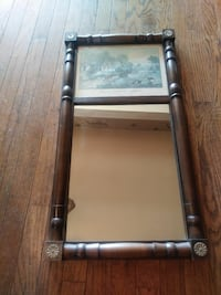 Wall Mirror Currier& Ives Picture Byron, 14422