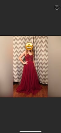 Red Sparkle Long Prom Dress