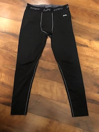 Black and gray compression pants