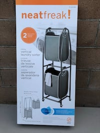 2 Tier Removable Laundry Basket on wheels - No longer in box and preassembled - 3 Available - $45.00 Each Long Beach, 90805