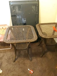 Matching wicker tables