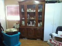brown wooden china buffet hutch Kathleen, 31047