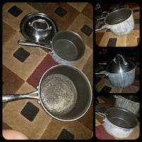 2 piece used pot and pans with stainless steel lid Queen Creek, 85140