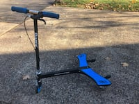 black and blue kick scooter Herndon, 20171