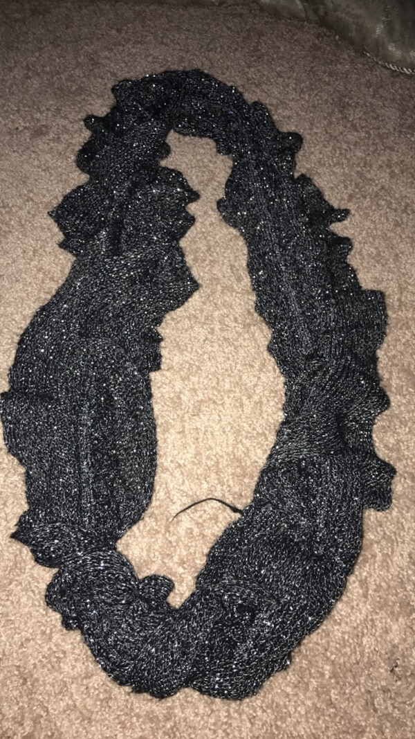 Black and silver scarf