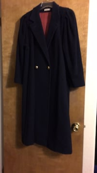 ladies blue trench coat