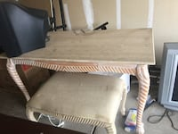 Marble tan table bench and mirror  Bakersfield, 93313
