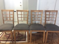 4 dining chairs!solid wood excellent condition. Toronto, M2R 2C4