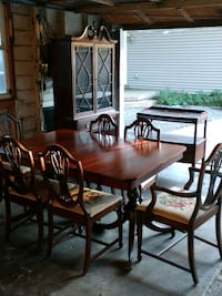 rectangular brown wooden table with six chairs dining set Orlando, 32806
