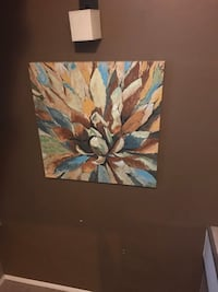 brown and blue flower painting Brentwood, 63144