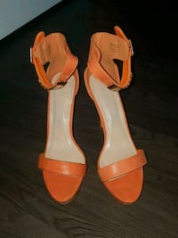 Orange platform sandals size 11 Arlington, 22203