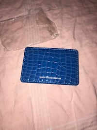 4 credit card holder blue leather