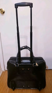 Leather Roll-on carry-all large laptop luggage bag