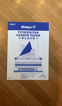 Typewriter carbon paper
