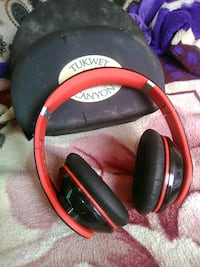 black and red corded headphones Costa Mesa, 92627