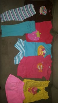 toddler's assorted clothes