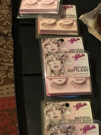 Make up lip stick eyes lashes.          By  cover girl