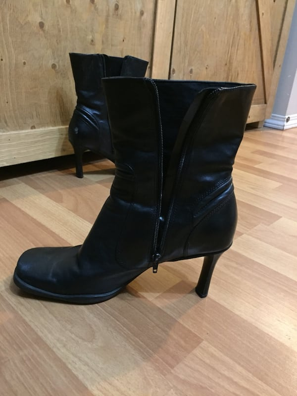 Black Leather boots 1