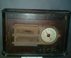 brown wooden electric appliance