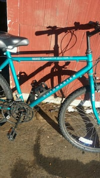 teal and black mountain bike Queensbury, 12804