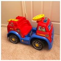 Toddler's red and blue ride-on toy Bowie, 20716