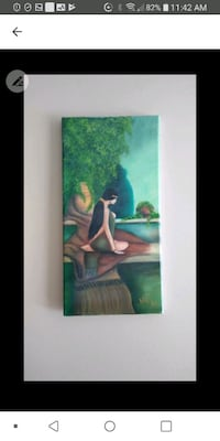 """8"""" x 16"""" oil painting Laval, H7M 4A2"""